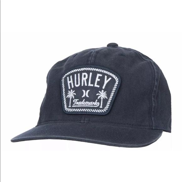 8d7279edb Hurley Men's Roped In Snap Back Hat Vintage Navy NWT